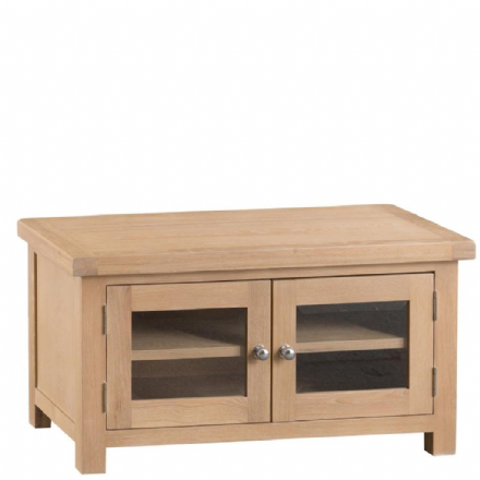 Malmo Oak Standard TV Unit with Glazed Doors